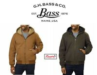 NEW! SALE G.H. Bass & Co. Men's Full Zip Canvas Jacket - VARIETY SIZE AND COLOR!