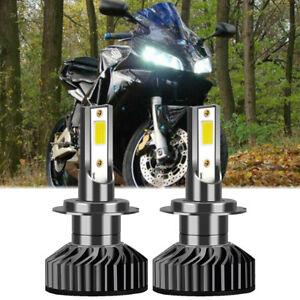 2x H7 LED Headlight Bulb 8000K White F2 For Honda CBR1000RR CBR600RR 2003-2016