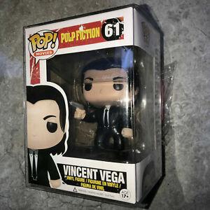 Funko pop!movies:Pulp Fiction #61 Vincent vega Vinyl Figure With Protector
