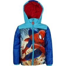 Boys Spiderman Mickey Mouse Puffa Winter Warm Hooded Jacket Coat age 3,4,6,8 Y