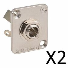 """(2 Pack) Switchcraft E12B 1/4"""" Stereo EH Panel Mount Jack Nickel Finish"""