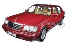 1997 MERCEDES S500 RED METALLIC 1/18 DIECAST MODEL CAR BY NOREV 183579