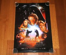 ORIGINAL MOVIE POSTER STAR WARS REVENGE OF THE SITH 2005 UNFOLDED DS STYLE B ONE