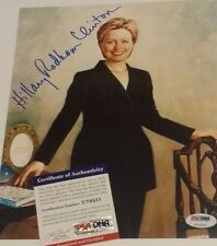 Hillary Clinton  Signed 8x10 Photo with Bill  PSA/DNA COA - 1st Lady White House