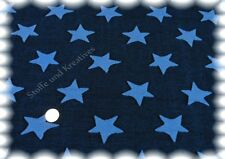 Jaquard Sterne blau Sweat Strick 195 cm breit 50 cm Strickstoff Sternenstoff