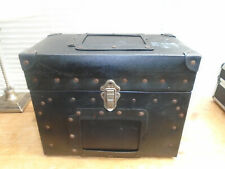 Vintage plastic and metal studded carry case/ flight case/ tool box/ storage
