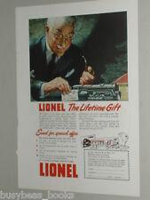 1948 Lionel Train advertisement, Pennsy Turbine Locomotive, Gift from Grandpa