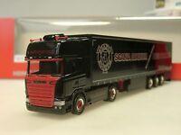 """Herpa Scania R TL """"Heinrichs"""" Gardinenplanen-Sattelzug - 306669 - 1/87"""