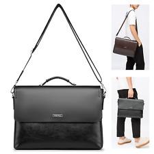 Vintage Leather Messenger Briefcase Shoulder Bag Military Travel Satchel Bags