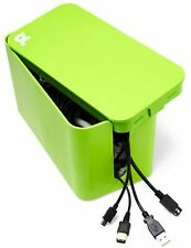 NEW SEALED Bluelounge CBM-GRN-US GREEN CableBox Mini Cable Management Box hide