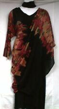 Women Clothing Majic Dress convertible Maxi African Free Size Plus Black Rust
