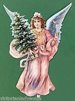 Angel Holding Christmas Tree Victorian Christmas Ornament