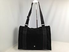 Auth Hermes Fourre Tout Bassas Shoulder Bag Canvas Black Vintage 5E050K30