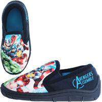 Avengers Prinsep Marvel Boys Kids Slippers - Blue (Sizes 10,11,12,13,1,2,3)