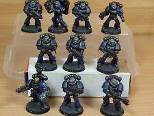 10 Plastique space marine tactical squad bien peint (1280)