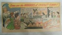 Chiclets Gum Ad: The Wonders of Chiclet-Town ! 1940's Size 7.5 x 15 inches
