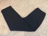 Black Cubed Back Zipper Belt Loop Women's Dress Pants Size 12 Inseam 28