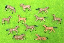 lot 12 pcs Ho scale animals 1:87 for Model train layout ( Horse )