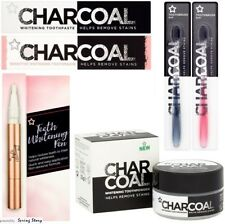 Superdrug Teeth Stain Remove Whitening Pen,Charcoal Toothpaste,Toothbrush,Powder