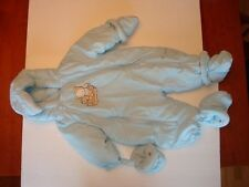 The Children's Place Baby Winter Snowsuit 6-9m Blue & Bear $40v Soft NWT New