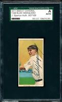 Rube Marquard 1909-11 T206 Sweet Caporal SGC EXTREMELY RARE autographed auto HoF