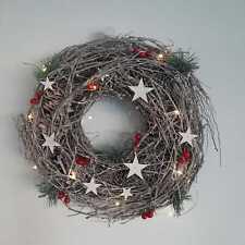 Scandinavian Light-up Christmas Wreath