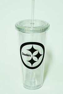 Pittsburgh Steelers 24 oz Sip and go Tumbler NFL Licensed - Ships Tomorrow
