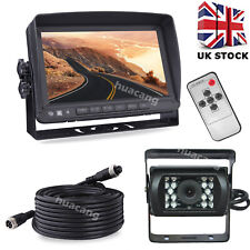 "4Pin 7"" LCD Monitor Waterproof Reversing Camera Set for Trailer Motorhome Truck"