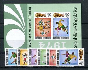 Togo 1017/22 Block 81 postfrisch / Fussball ..............................2/3844