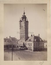 France à identifier Photo signée Luzzatto Vintage albumine ca 1875