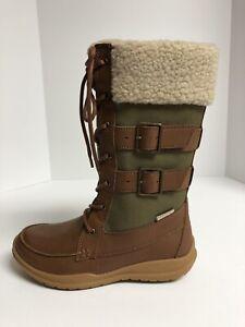 Kamik, Addams Brown/Tan Snow Boots, Waterproof, Women's Size 6 M