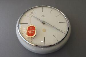 Junghans Strich Uhr Wanduhr Küchenuhr ähnlich Max Bill Keramik 50er 60er Jahre