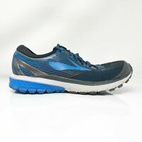 Brooks Mens Ghost 10 1102571D056 Black Blue Running Shoes Lace Up Size 10 D
