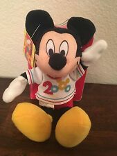 Rare Collectors Mickey 2000 Plush and HC book: Disney's Friendly Tales with Tag