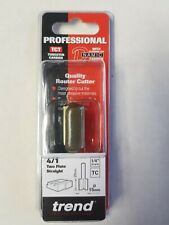 """TREND PROFESSIONAL 4/1 TCT 15MM  STRAIGHT ROUTER CUTTER BIT 1/4"""" SHANK"""