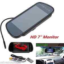 """7"""" Car TFT LCD Monitor Mirror Reverse Rear View Backup Camera Monitor Display"""