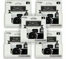 5 X VIBE Single Use 36 Exposure 35mm Camera Pack Photography Wedding Birthday