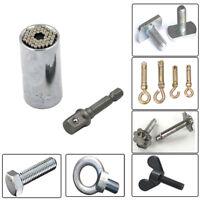 Universal Socket Magic Grip 7-19mm Multi-Function Ratchet Drill Adapter Tool TEU