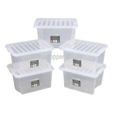30 Ltr Set of 10 Plastic Storage Boxes Inc Lids