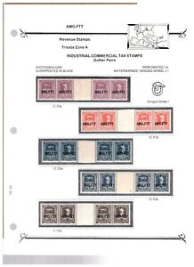 Italy AMG-FTT Trieste Large Revenue Stamp Collection Mint & Used - Group #2