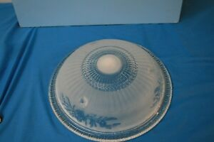 Light Shade. L E Smith Glass Co Pendant Dish Shade With Flower Design