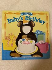 Picture Me Baby's Birthday Book, New, add baby's picture to personalize