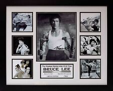 Bruce Lee Limited Edition Framed Signed Memorabilia (w)