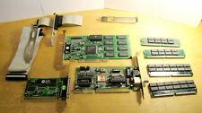 Stock informatica vintage, varie schede (scheda video e rete), memorie e cavi