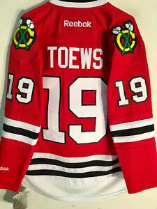 REEBOK NHL PREMIER CHICAGO BLACKHAWKS JONATHAN TOEWS RED JERSEY MEN'S SIZE XL