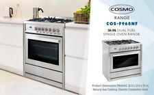 Cosmo Cos-F965Nf 36in Dual Fuel Range with 5 Burners