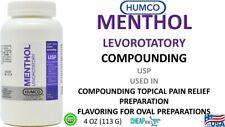 HUMCO MENTHOL CRYSTALS 4 Ounces oz Mentha arvensis USP Grade 100% pure (USA)