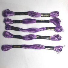 DMC Écheveaux Coton Mouliné X 5 Couleur En Dégradé Violet Nº52