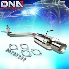 """FOR 06-09 ECLIPSE 2.4 4G69 4""""ROLLED TIP STAINLESS STEEL EXHAUST CATBACK SYSTEM"""