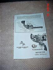 Colt Vintage Commando Manual